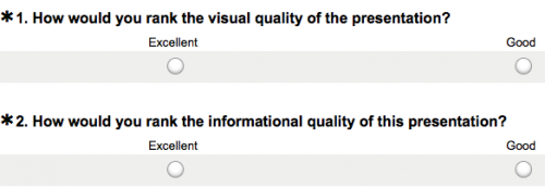 Screenshot of a sample poll from the website SurveyMonkey