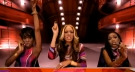 Screenshot from music video for Destiny Child's Independent Women
