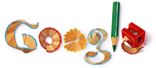 Google Logo Made of Pencil