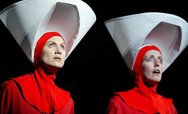 Photo of two characters from Margaret Atwood's The Handmaid's Tale