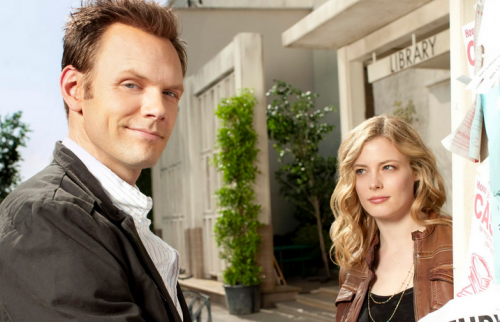 Photo of Jeff and Britta from the sitcom Community