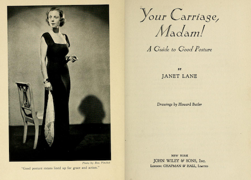 Title page and image from book entitled Your Carriage, Madam