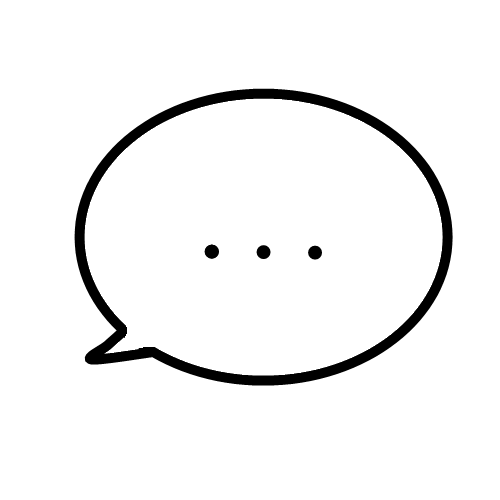 Speech bubble with an ellipsis inside